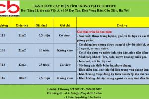 Văn phòng trọn gói với giá thuê siêu rẻ-chỉ từ 5 triệu/th-Duy Tân-Cầu Giấy